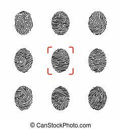 Set of individual fingerprints for personal identification....