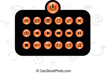 Set of info buttons. Vector