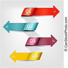 Set of info graphics banners. Vector