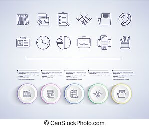 Set of Infographic Elements on Vector Illustration