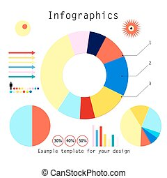 set of infographics