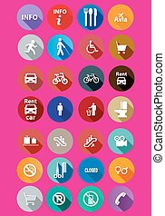 set of information icons,