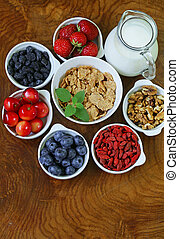set of ingredients