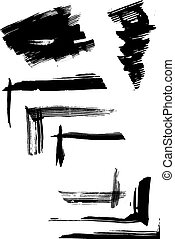 set of ink blots