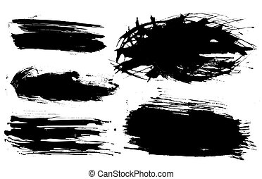 set of ink blots