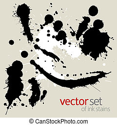 Set of ink stains - Set of vector ink stains