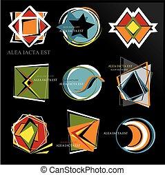 Set of interesting new logos ALEA