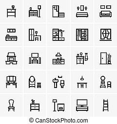 Interior icons - Set of Interior icons
