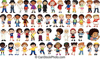 Set of international kids character