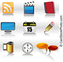 internet icons - set of internet icons and symbols