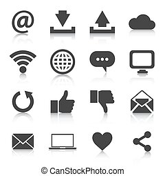 Set of internet icons. Vector illustration EPS10