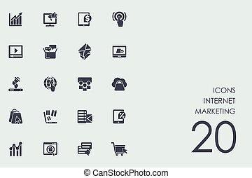 Set of Internet marketing icons