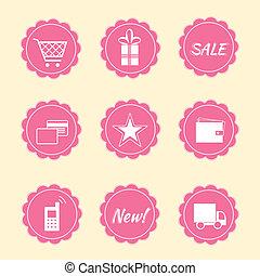 Set of internet shop icons