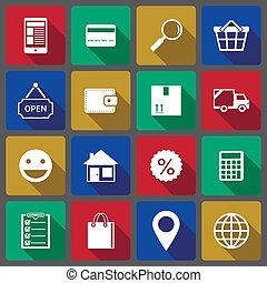 Set of internet shopping icons