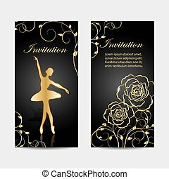 Set of invitation cards design.