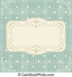 set of invitation cards on polka dots background with...