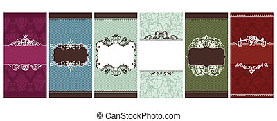 set of invitation cards vector illustration