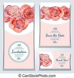 Set of invitation cards.