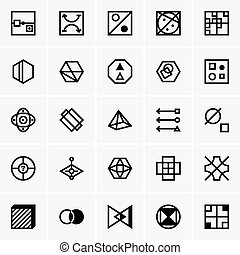 IQ test icons - Set of IQ test icons