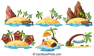 Set of island collection