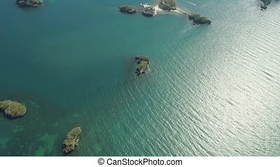 Set of islands in sea. Philippines. - Aerial view islands...