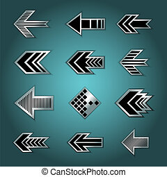 Set of isolated arrows