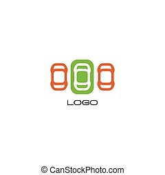 Set of isolated colorful vector devices. Simple mobile...