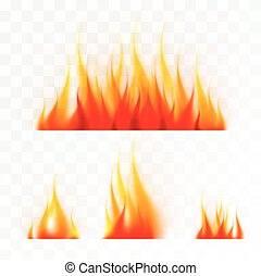 Set of isolated flames