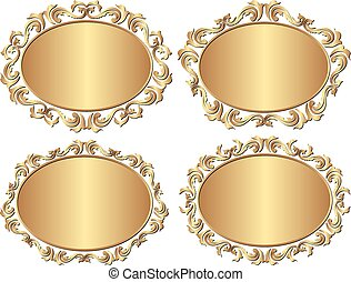 frames - set of isolated golden frames