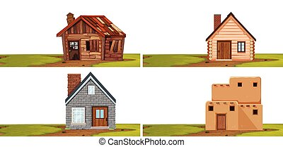 Set of isolated house