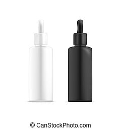 Set of isolated perfume containers or cosmetics