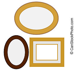 square and oval frames