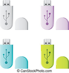 Set of isolated USB Flash Drive