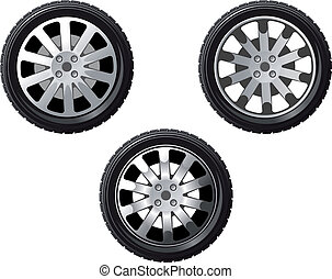 Set of isolated wheels