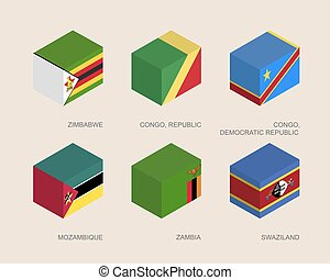 Set of isometric 3d boxes