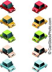 Set of isometric car icons2