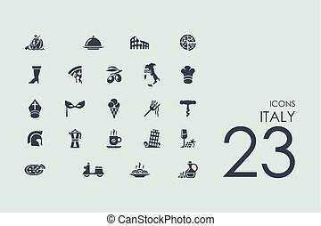 Set of Italy icons