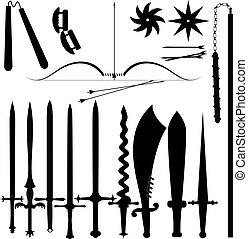 Set of  item  bladed weapons