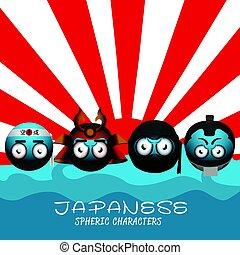 Set of japanese emotes
