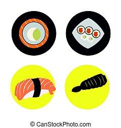 Set of japanese food