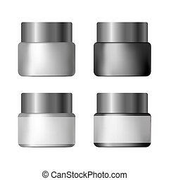 set of jars for cosmetics