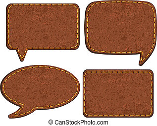 Set of jeans leather labels. Vector illustration