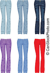 Set of jeans - Vector illustration. It is created in the...
