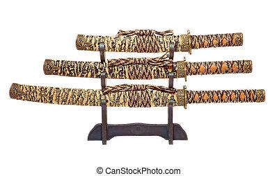 Set of katanas