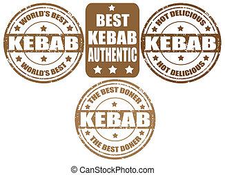 Set of kebab stamps