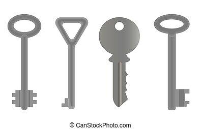 Set Of Keys. Vector EPS 10.