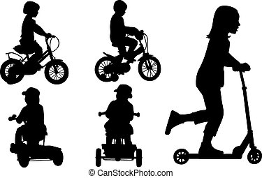 kids - set of kids on bikes