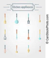 Set of kitchen appliance