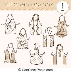 set of kitchen aprons 1