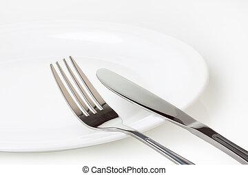 Set of kitchen object on a white background.